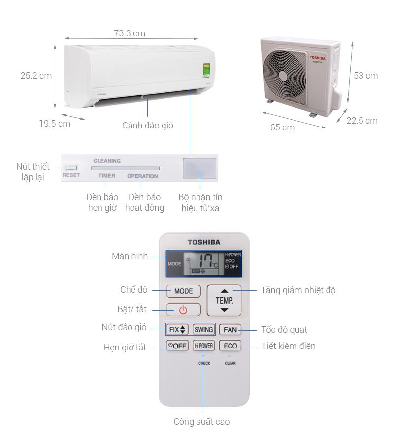 máy lạnh Toshiba 1HP